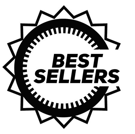 BEST SELLERS stamp on white background. Signs and symbols series.