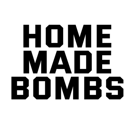 HOME MADE BOMBS stamp on white background. Signs and symbols series. Illustration