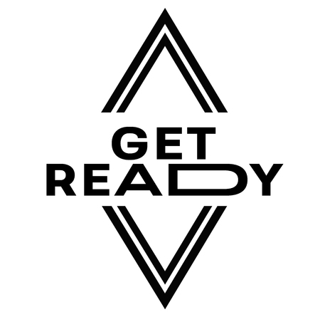 GET READY stamp on white background. Signs and symbols series.