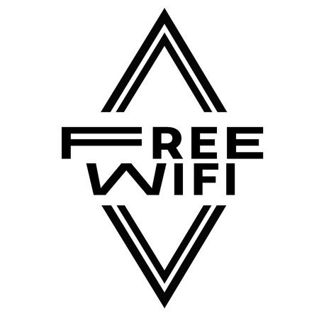 FREE WIFI stamp on white