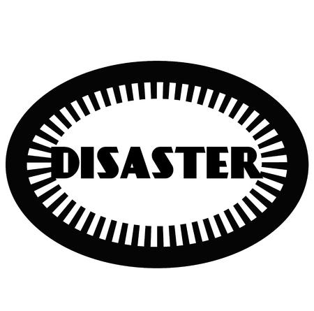 DISASTER stamp on white Illustration