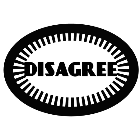 DISAGREE stamp on white Banco de Imagens - 120642833