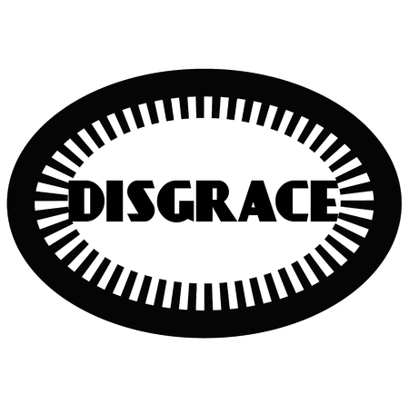 DISGRACE stamp on white Illustration