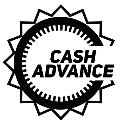 CASH ADVANCE stamp on white background. Signs and symbols series.