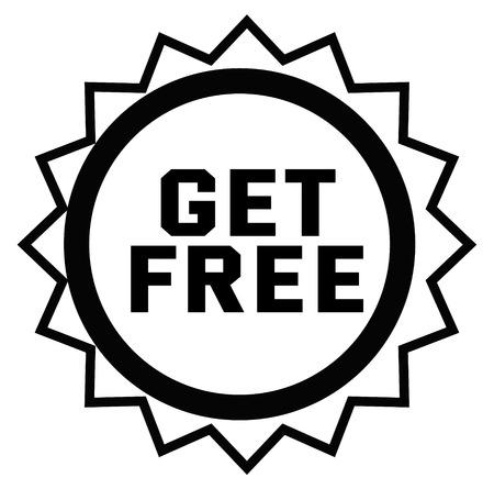GET FREE stamp on white
