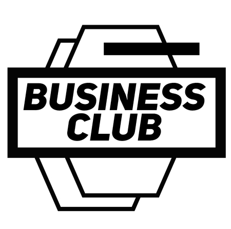 BUSINESS CLUB stamp on white background. Signs and symbols series.  イラスト・ベクター素材