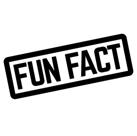 FUN FACT stamp on white