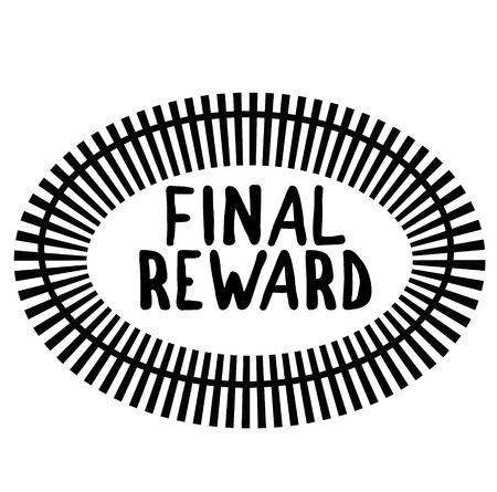 FINAL REWARD stamp on white background. Signs and symbols series.