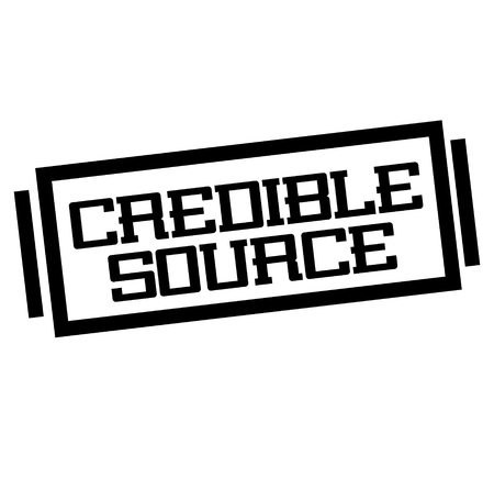 CREDIBLE SOURCE stamp on white