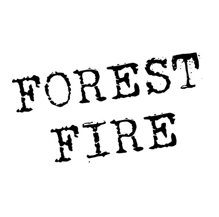 FOREST FIRE stamp on white