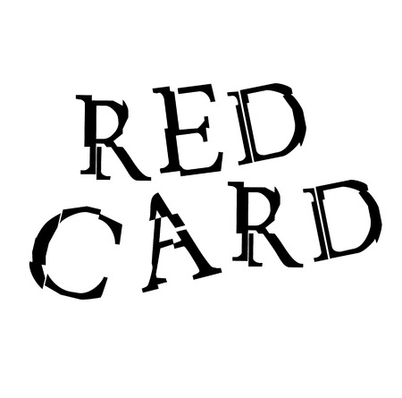 RED CARD stamp on white Çizim