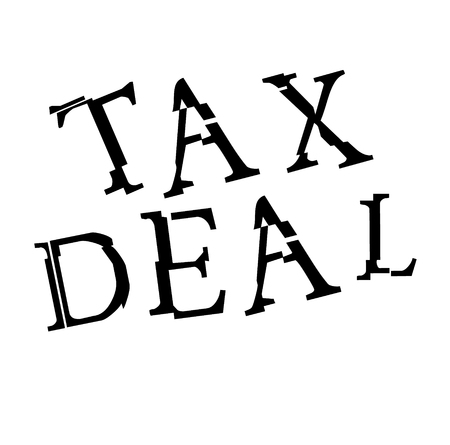 TAX DEAL stamp on white