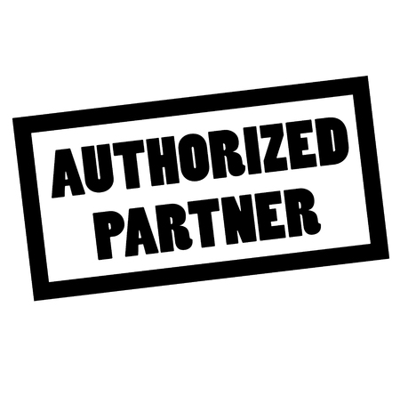 AUTHORIZED PARTNER stamp on white