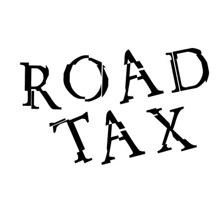 ROAD TAX stamp on white Çizim