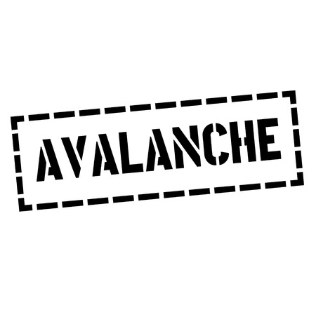 AVALANCHE stamp on white background