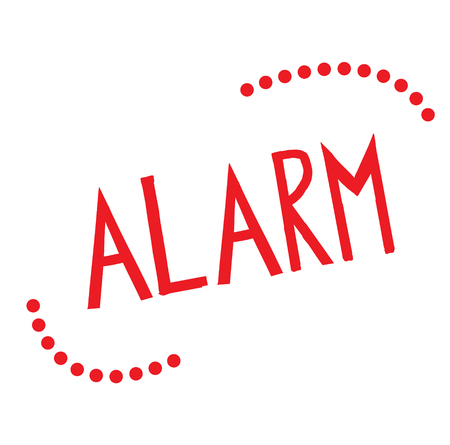ALARM stamp on white background