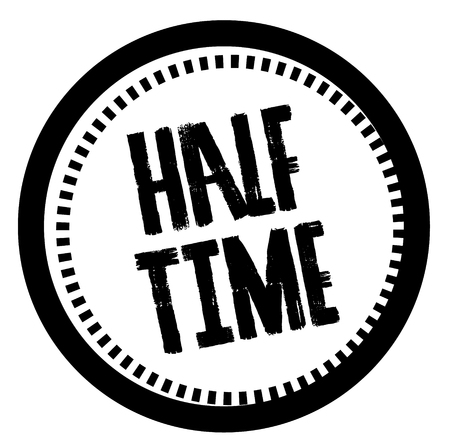 HALF TIME stamp on white