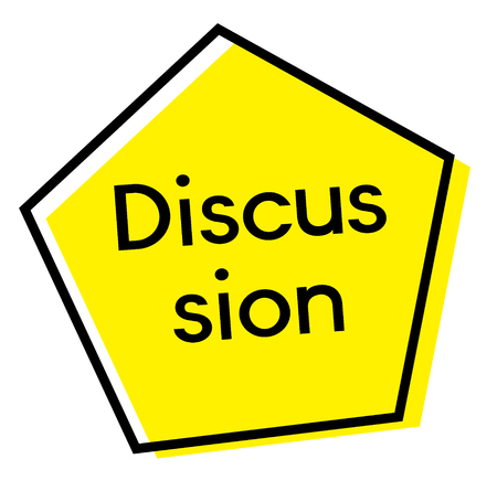 DISCUSSION stamp on white background Illustration