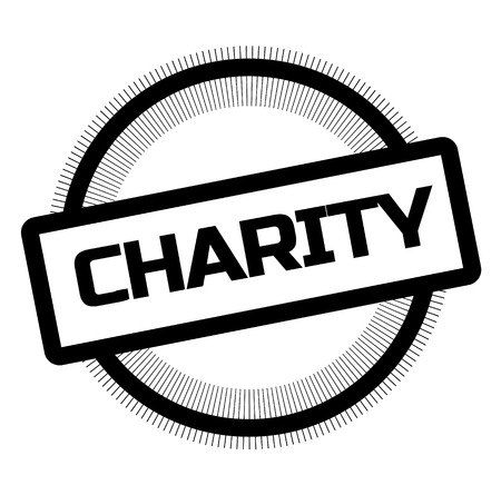 CHARITY stamp on white background