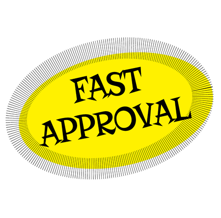 FAST APPROVAL stamp on white