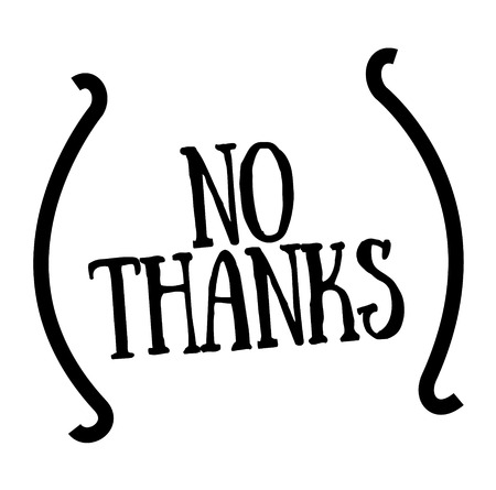 NO THANKS stamp on white. Stamps and advertisement labels series. Stock fotó - 123478228