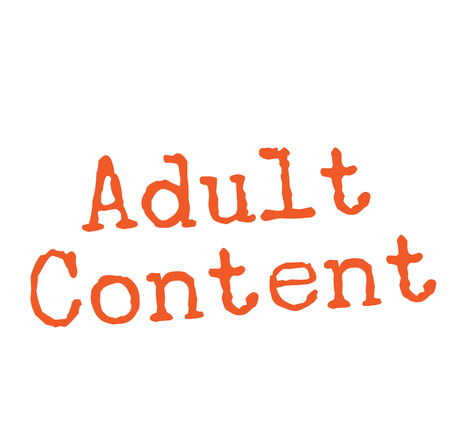 ADULT CONTENT stamp on white