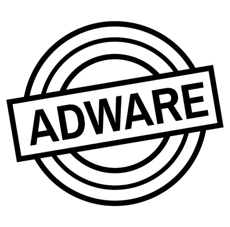 ADWARE stamp on white isolated Иллюстрация