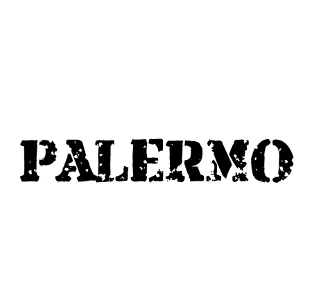 PALERMO stamp on white isolated Illustration