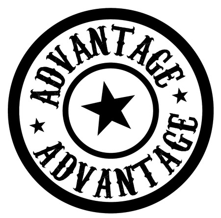 ADVANTAGE stamp on white isolated Иллюстрация