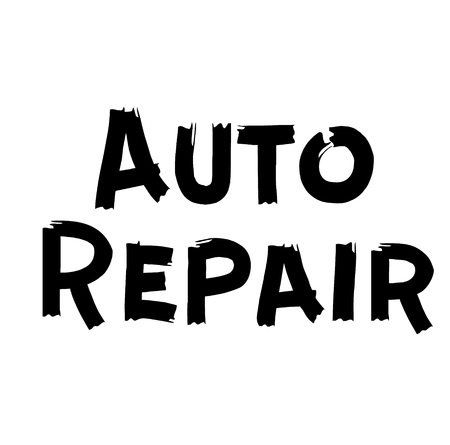 AUTO REPAIR stamp on white. Stamps and labels series.