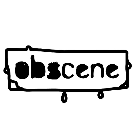 OBSCENE stamp on white isolated