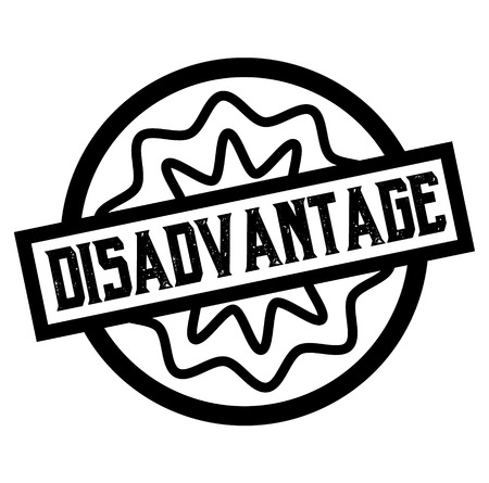 DISADVANTAGE stamp on white isolated Imagens - 124730402