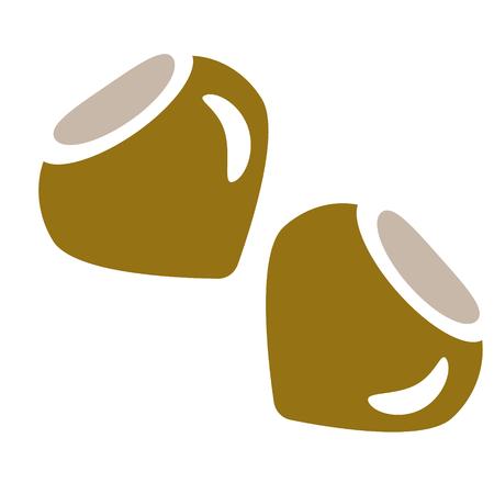 Nuts flat illustration on white