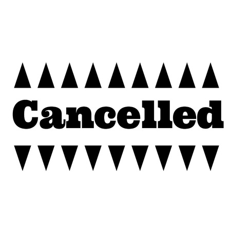 CANCELLED stamp on white background. Stickers labels and stamps series. Ilustração