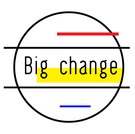 BIG CHANGE stamp on white background. Stickers labels and stamps series.
