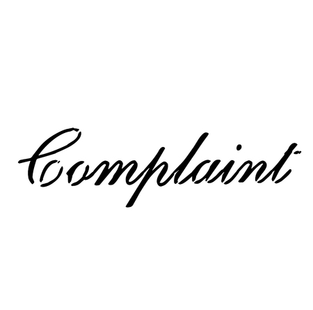 COMPLAINT stamp on white background