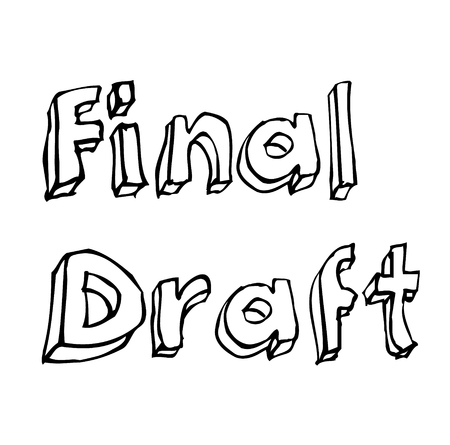 FINAL DRAFT stamp on white background