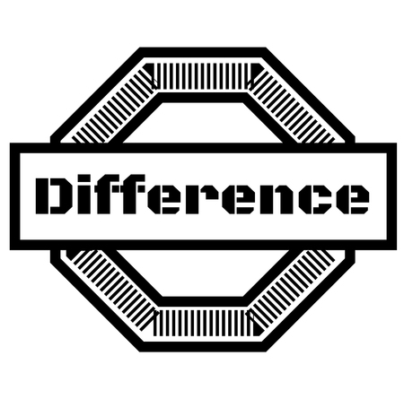 DIFFERENCE stamp on white background Stock Illustratie