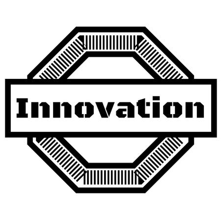 INNOVATION stamp on white background