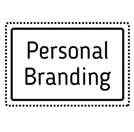 PERSONAL BRANDING stamp on white background