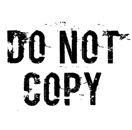 DO NOT COPY stamp on white background Illusztráció