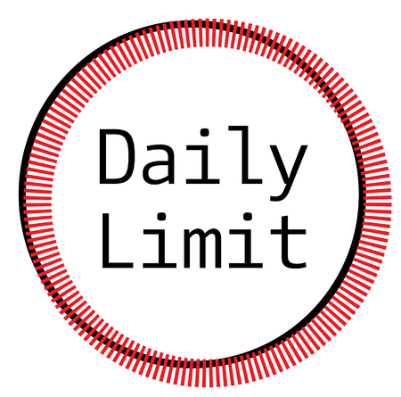 DAILY LIMIT stamp on white background Stock Illustratie