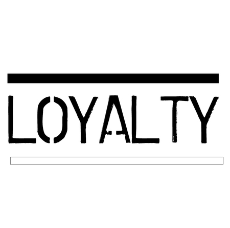 LOYALTY stamp on white background