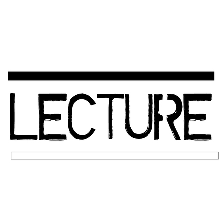 LECTURE stamp on white background