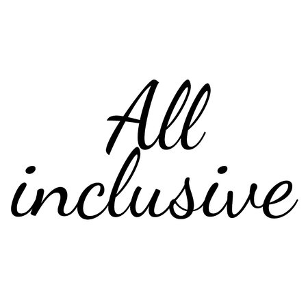 ALL INCLUSIVE stamp on white background