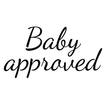 BABY APPROVED stamp on white background
