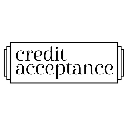 CREDIT ACCEPTANCE stamp on white background