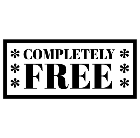 COMPLETELY FREE stamp on white background