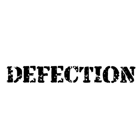 DEFECTION stamp on white background