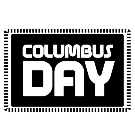 COLUMBUS DAY stamp on white background. Stickers labels and stamps series. 向量圖像